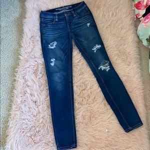 AA American Eagle Ripped Distressed Jeggings Jeans